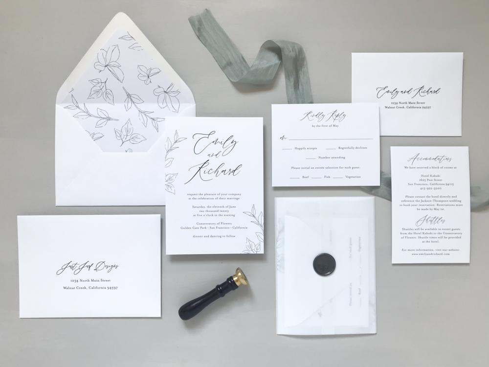 *Modern Botanical Wedding Invitation Suite by Just Jurf-6.jpg