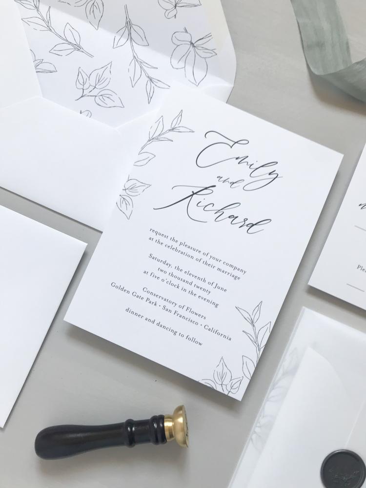 *Modern Botanical Wedding Invitation Suite by Just Jurf-12.jpg