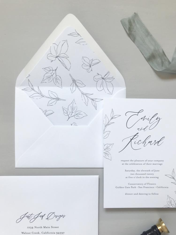 *Modern Botanical Wedding Invitation Suite by Just Jurf-13.jpg
