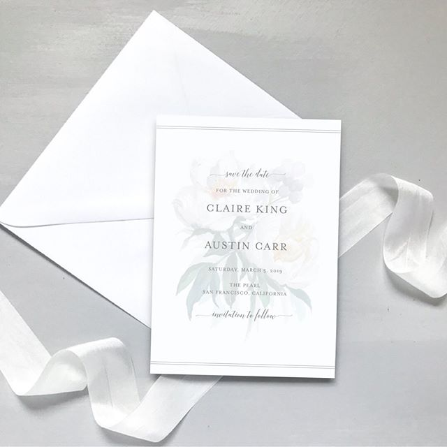 Loving these Classic White Floral Save the Dates! 🥰 ⠀⠀⠀⠀⠀⠀⠀⠀⠀ #botanicalwedding #minimalistwedding #minimalistinvitation #greywedding #simplewedding #simpleweddinginvitation #weddinginvitation #weddinginvitations #savethedate #savethedates #engaged #weddingseason #greenerywedding #botanical #sfwedding #bayareawedding #austinwedding #californiawedding #nywedding #chicagowedding #virginiawedding #sanfranciscowedding #weddingstationery #stationerydesigner #weddingindustry #weddingdetails #whitewedding #floralwedding #classicwedding #elegantwedding