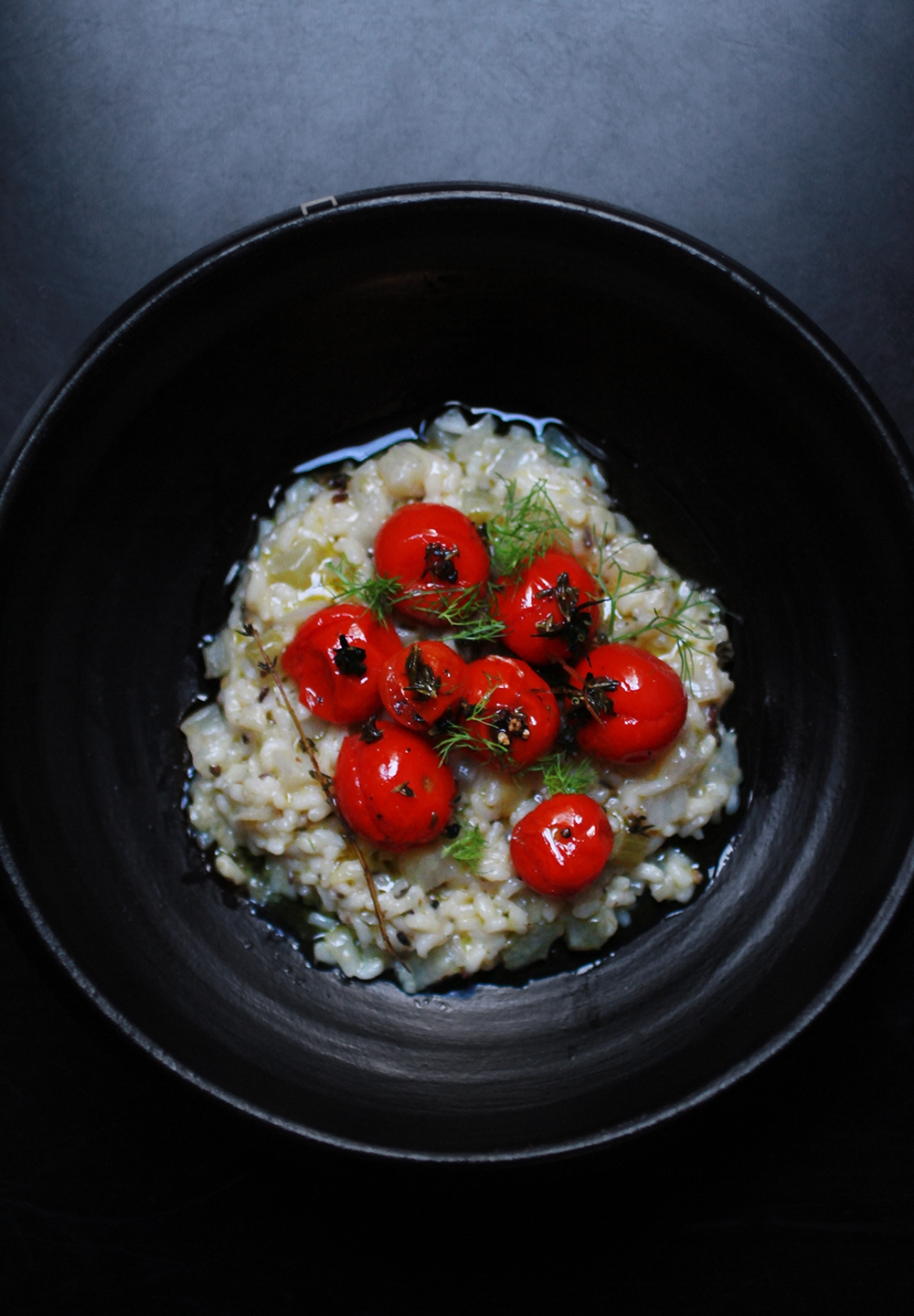 FENNEL RISOTTO WITH CHERRY TOMATOES AND THYME - GF