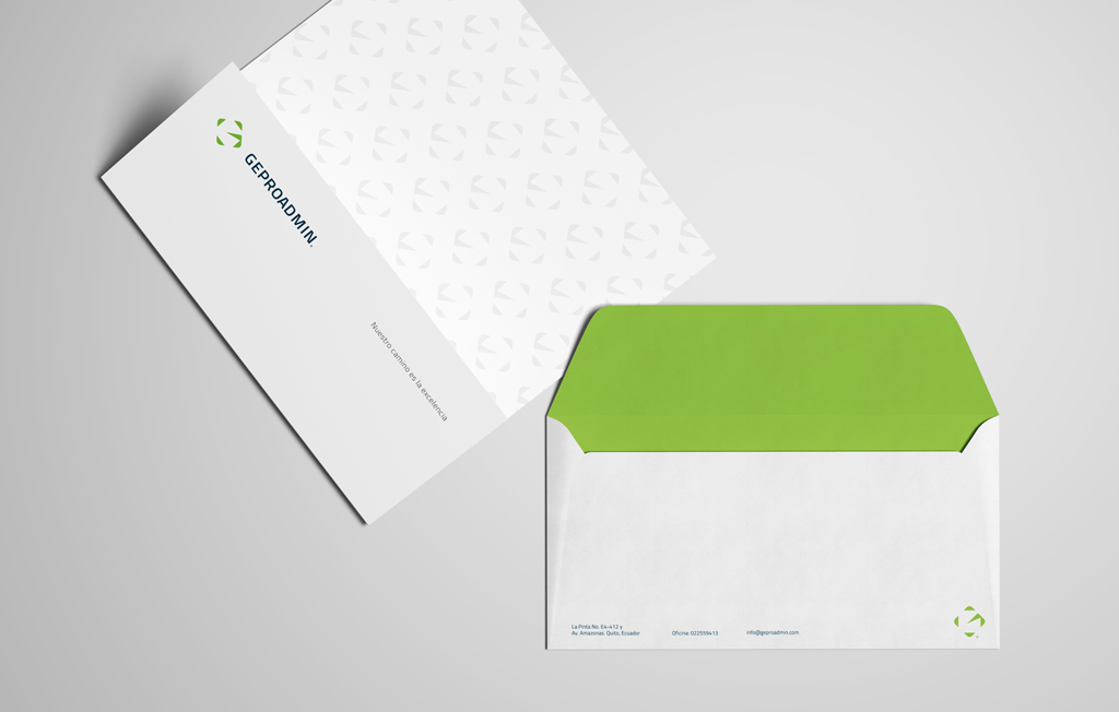 Corporate sheet and envelopes