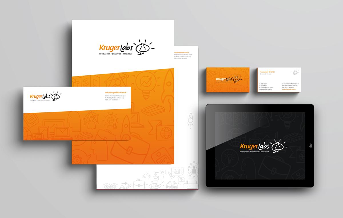 Aplicaciones de marca y lenguaje visual en papelería corporativa