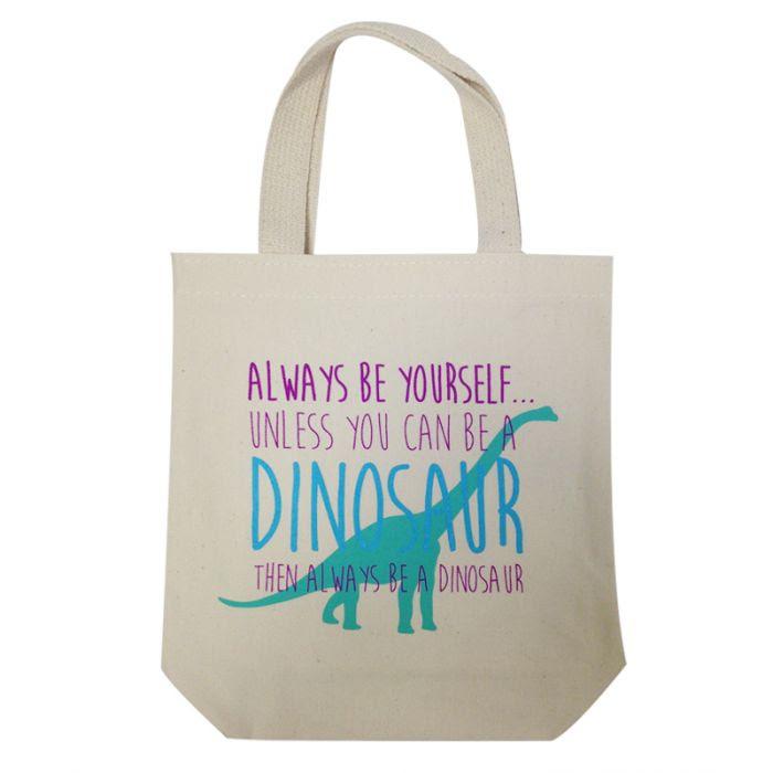 always_be_yourself_dinosaur_canvas_tote.jpg
