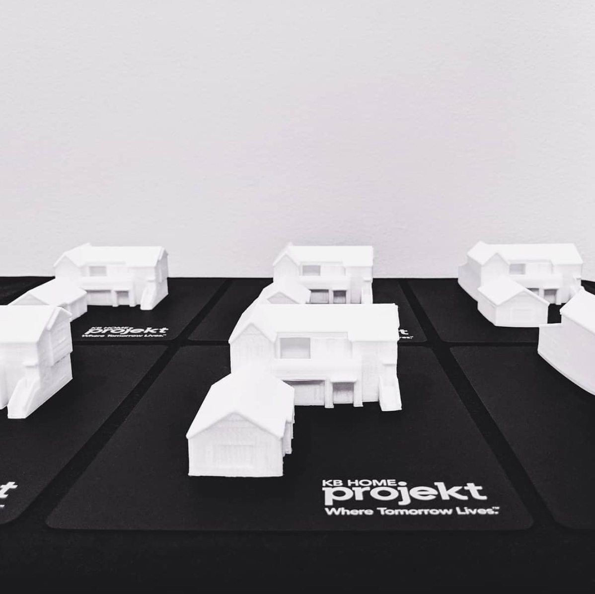 3D printed mini houses