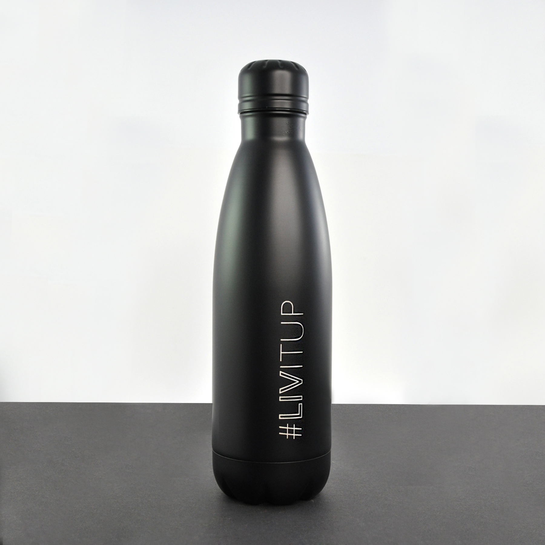 Laser engraved water bottle