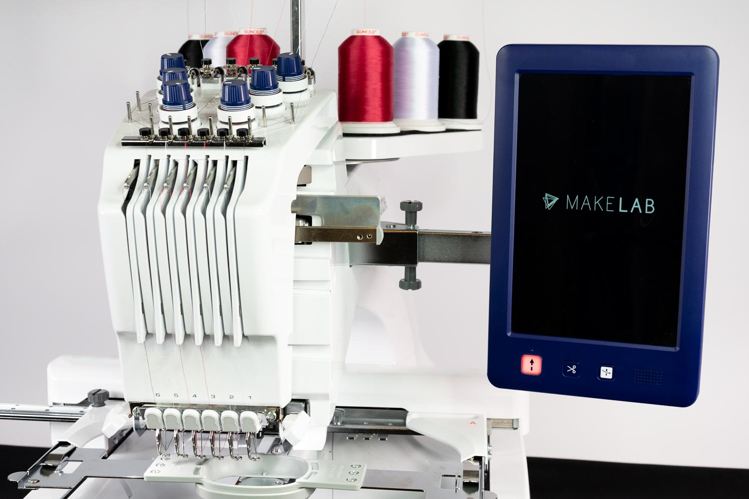 Our embroidery machine's digital screen