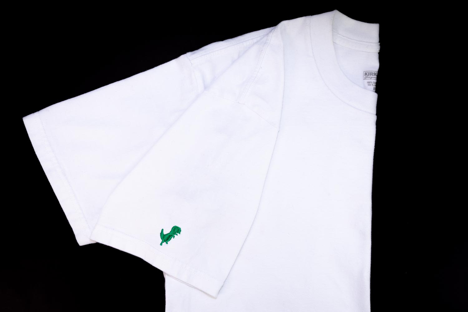 Embroidered t-shirt sleeve