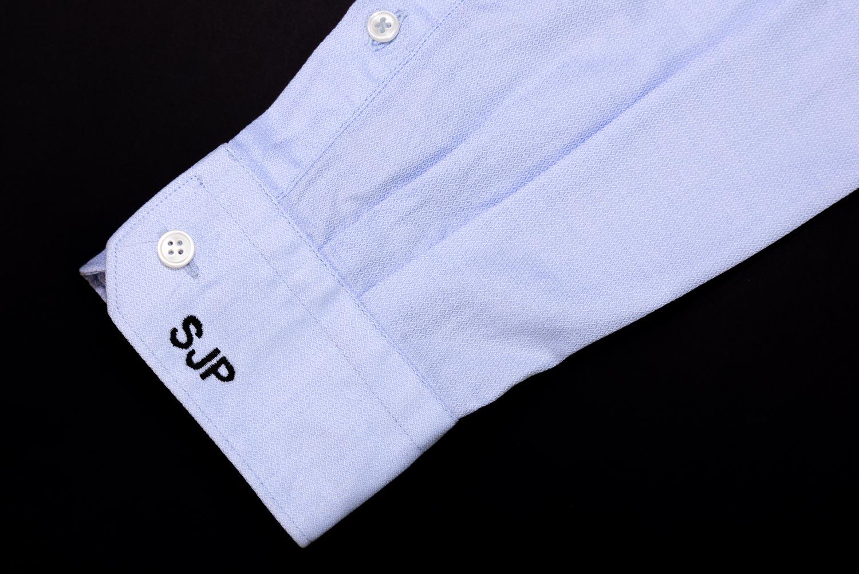 Embroidered dress shirt cuff