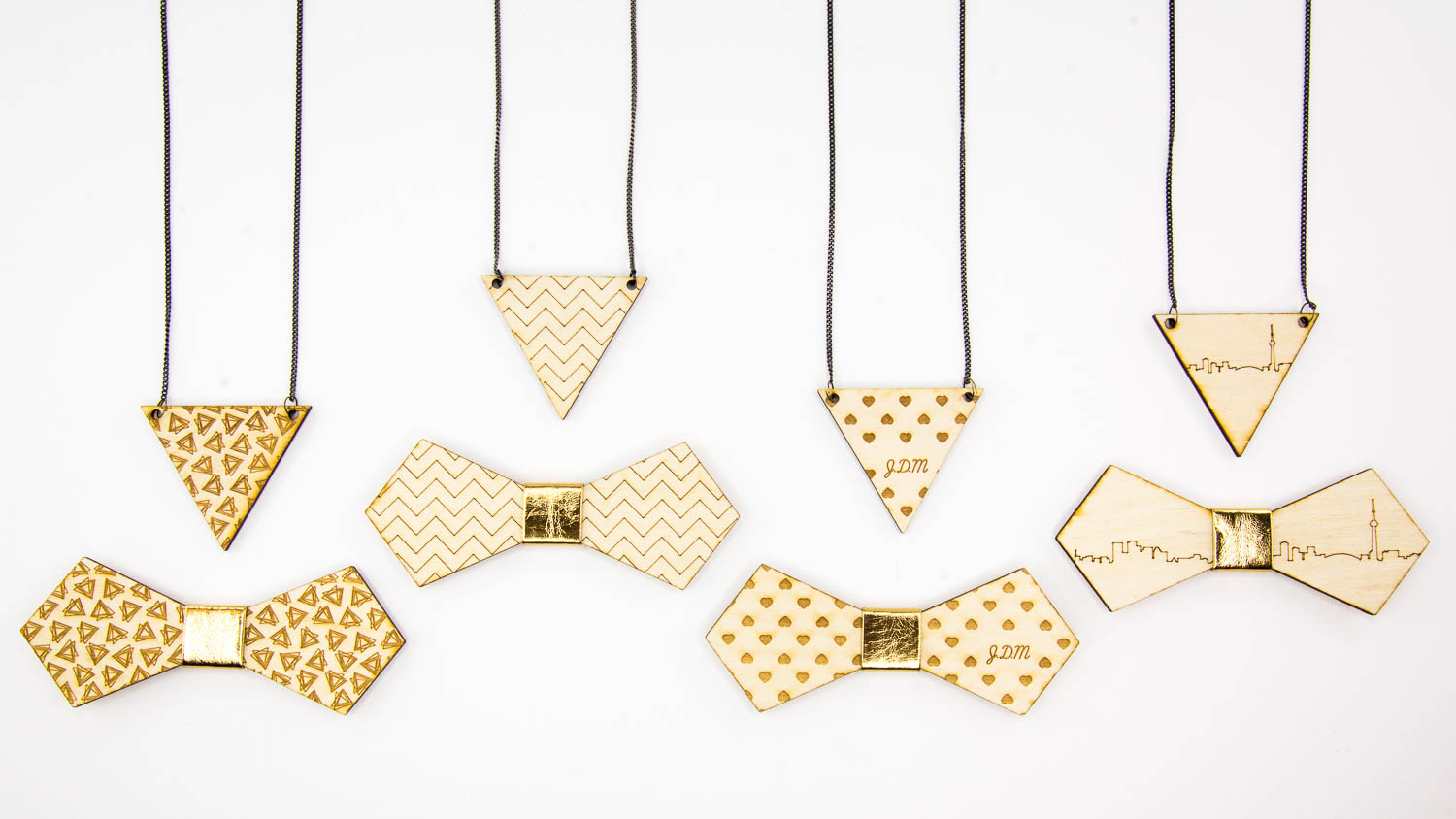 What:  DIY pendants & bowties |  Tool:  Laser
