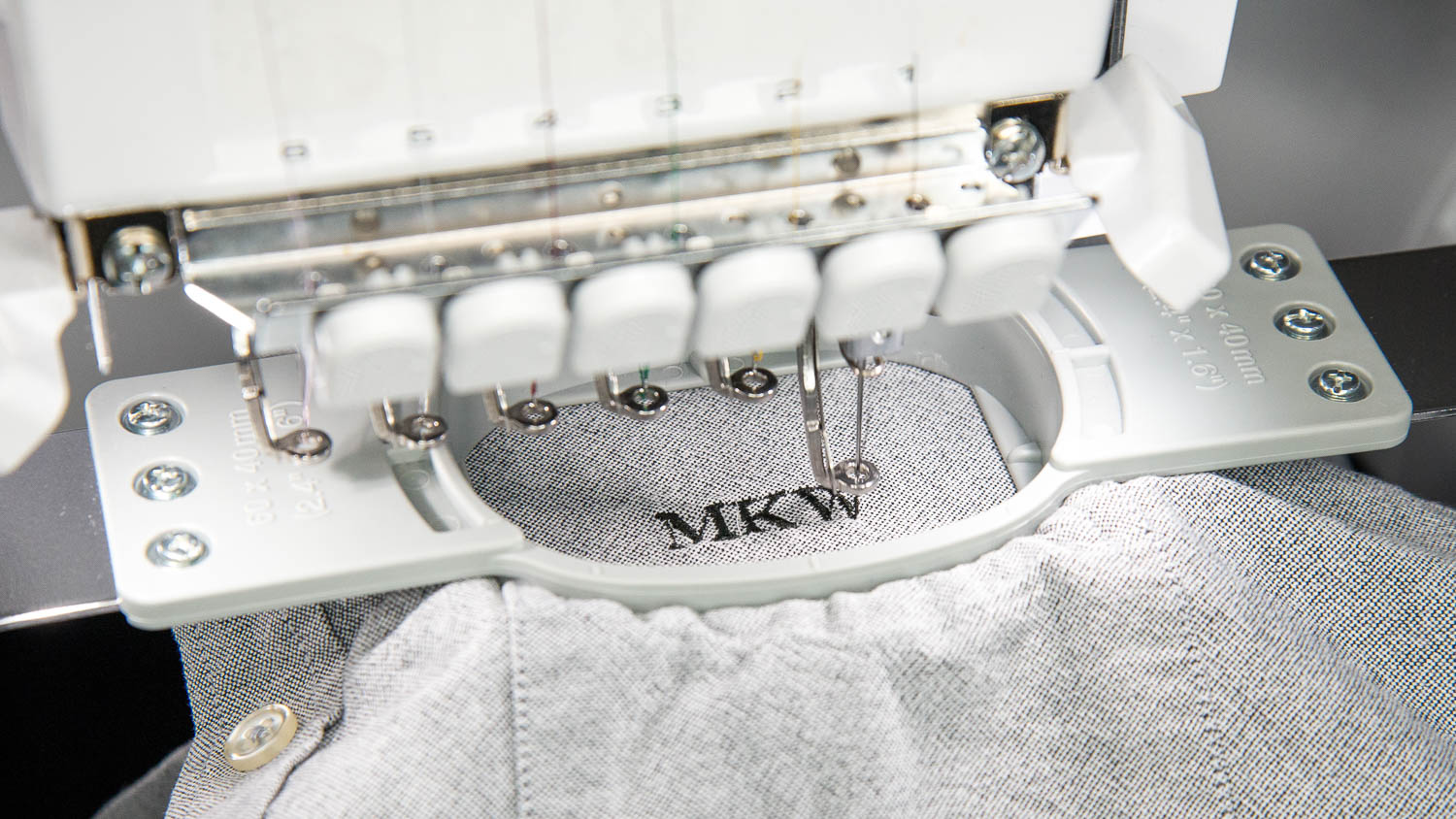 What:  Embroidery monogramming