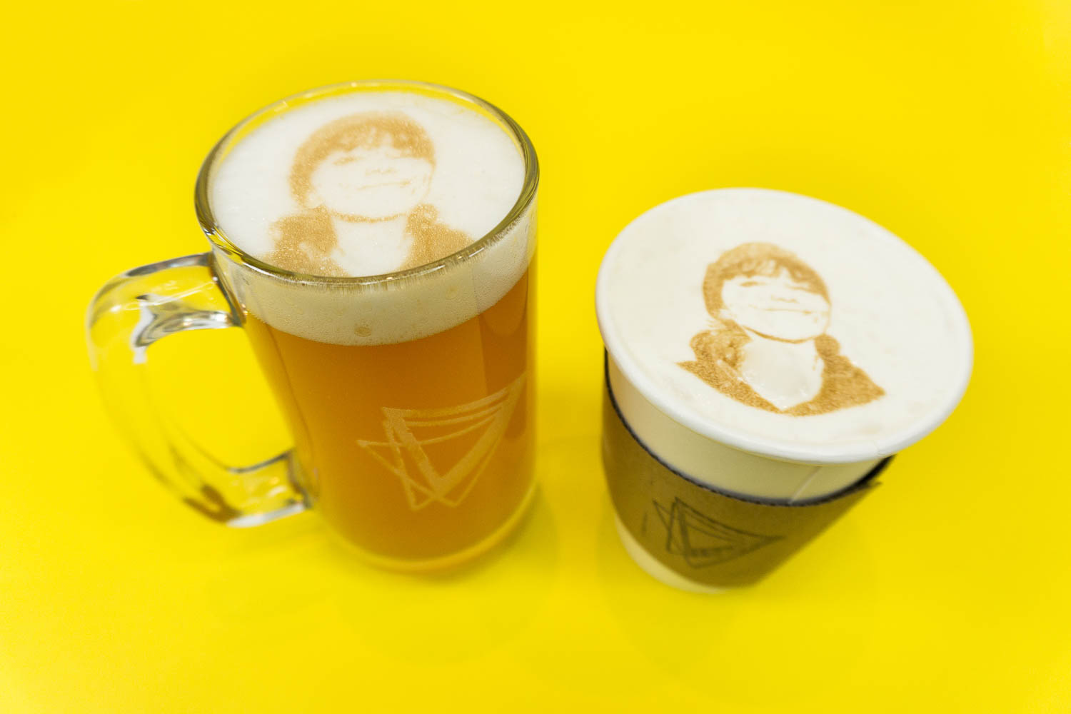 What:  Selfie beer & coffee |  Tool:  Beve-Bot