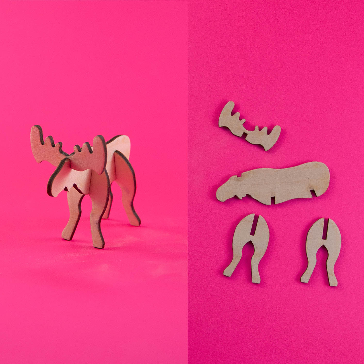 What:  Buildable moose |  Tool:  Laser