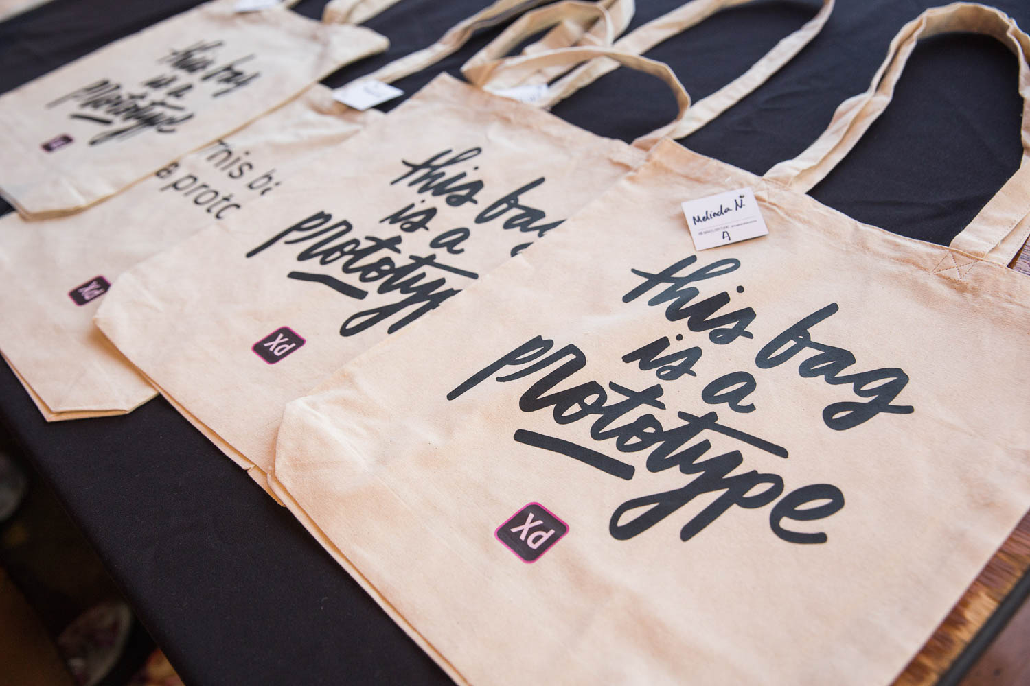 What:  Tote bags |  Tool:  Heat Press |  Client:  Adobe