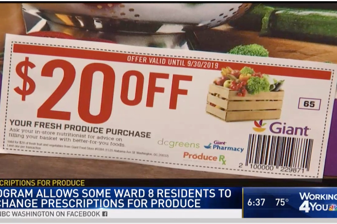 NBC 4,  Prescription for Produce: DC Program Focuses on Getting Ward 8 Residents Healthy