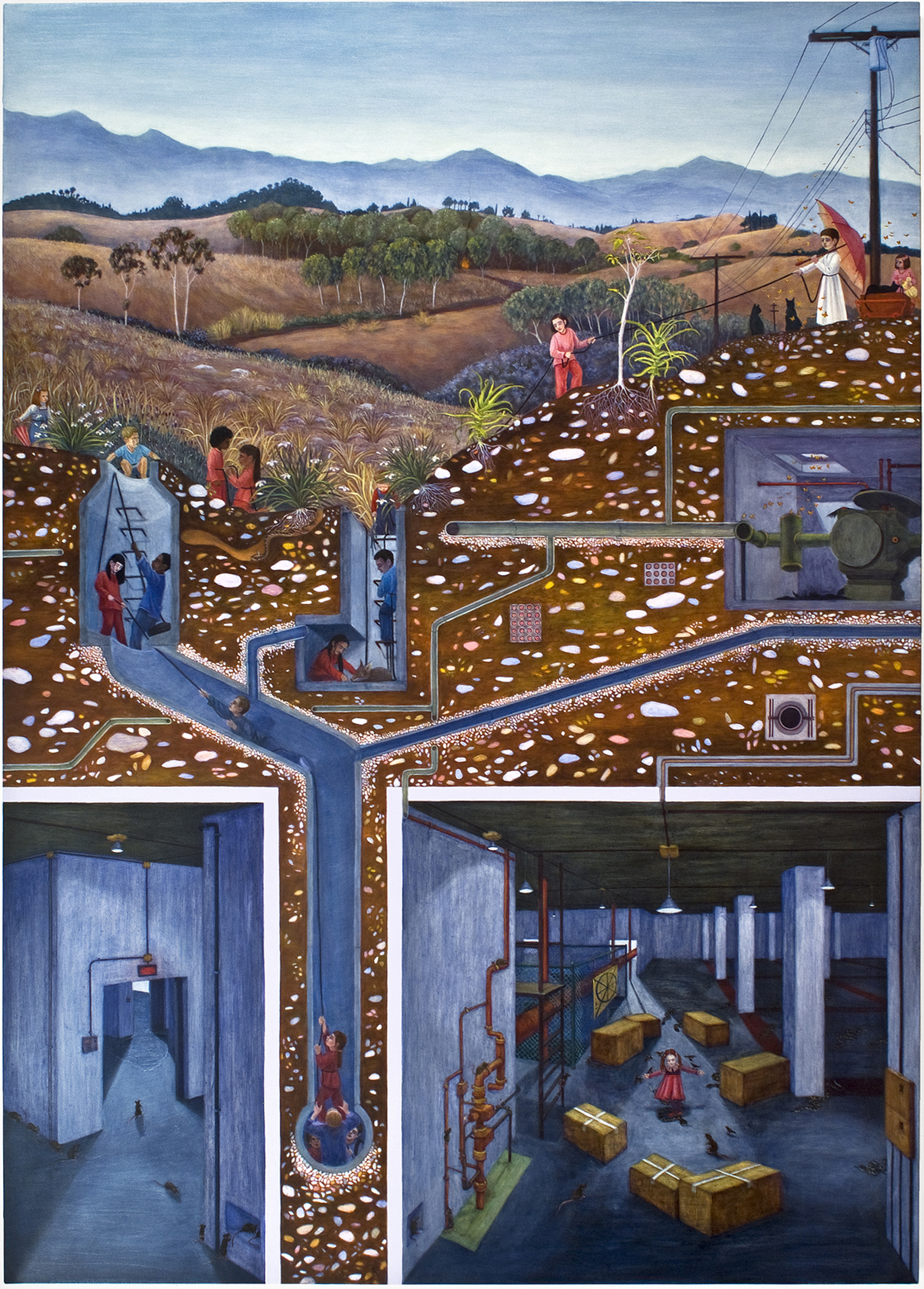 """System Failure: Gas, 84"""" x 60.25"""", oil on canvas/panel, 2009"""