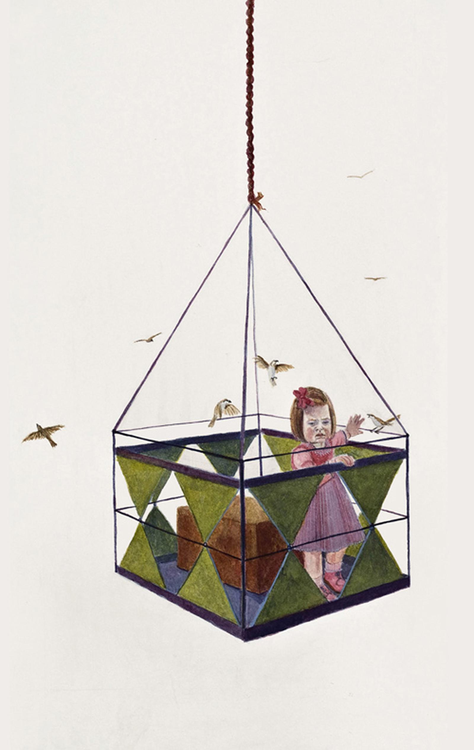 "Balance?, 17"" x 10"", watercolor & gouache on paper, 2010"