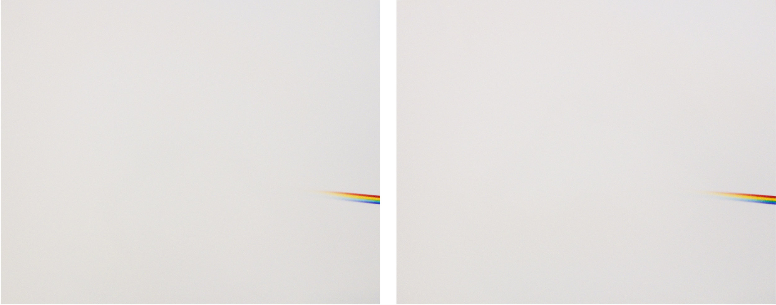 Every presentation itself, every method, is already hypothetical (Homage to Goethe and Newton)  (2013) Diptych, 2 C-prints/photograms 45 x 55 cm. each