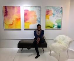 The artist Eyenga Bokamba in her gallery  Future Tense  in Minneapolis