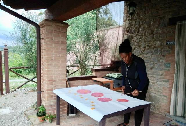 Plein air painting in the Italian countryside @ Alto Poggio, http://www.altopoggio.it/