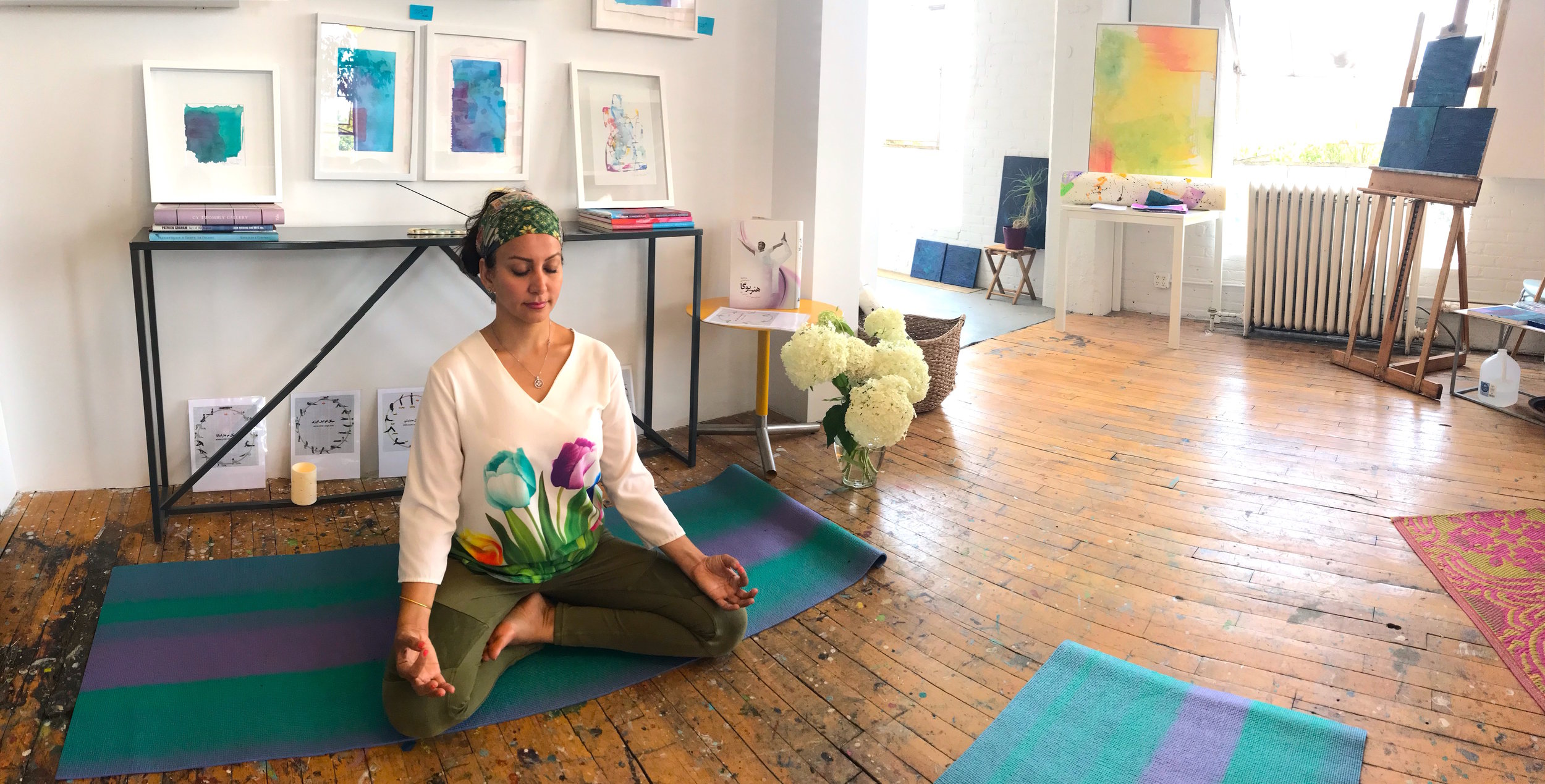 Internationally certified Cyclic Yoga Instructor Elham Ayoubi will collaborate with Eyenga to offer three very special and individualized restorative sessions in the studio!