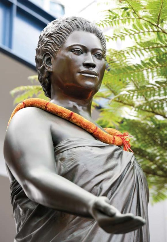 "The Queen that Defeated the Gods - The Hawaiian Queen that changed the island's entire culture and way of life did not do so by following tradition or by comporting herself in ""queenly"" ways. She was a beautiful girl who enjoyed surfing, flirting, drinking, and challenging the more repressive aspects of her culture in a way that many believed would result in violent retribution from their offended gods. Yet, instead of being struck down by a bolt of lightning, her actions earned her boundless power and the respect of generations of Hawaiians to come."