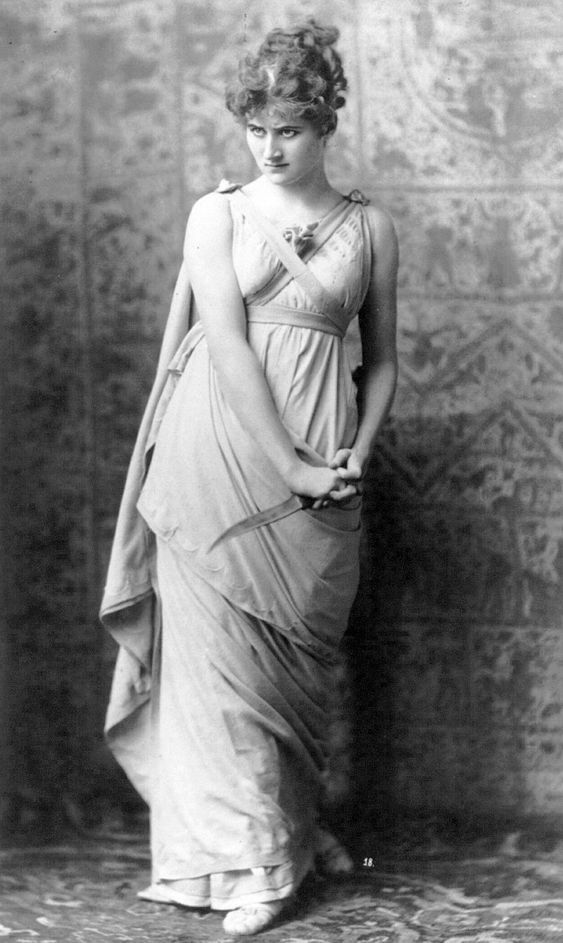 Mary Anderson as Parthenia in Friedrich Halm's  Ingomar the Barbarian,  1883
