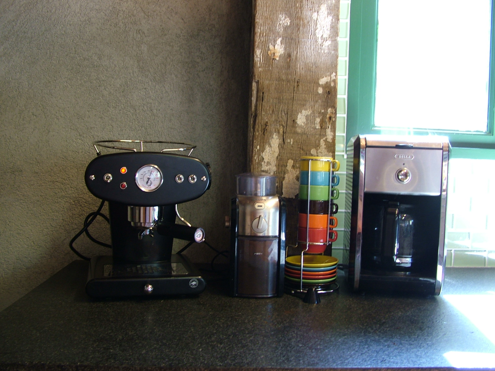 Gourmet coffee and espresso in the morning.