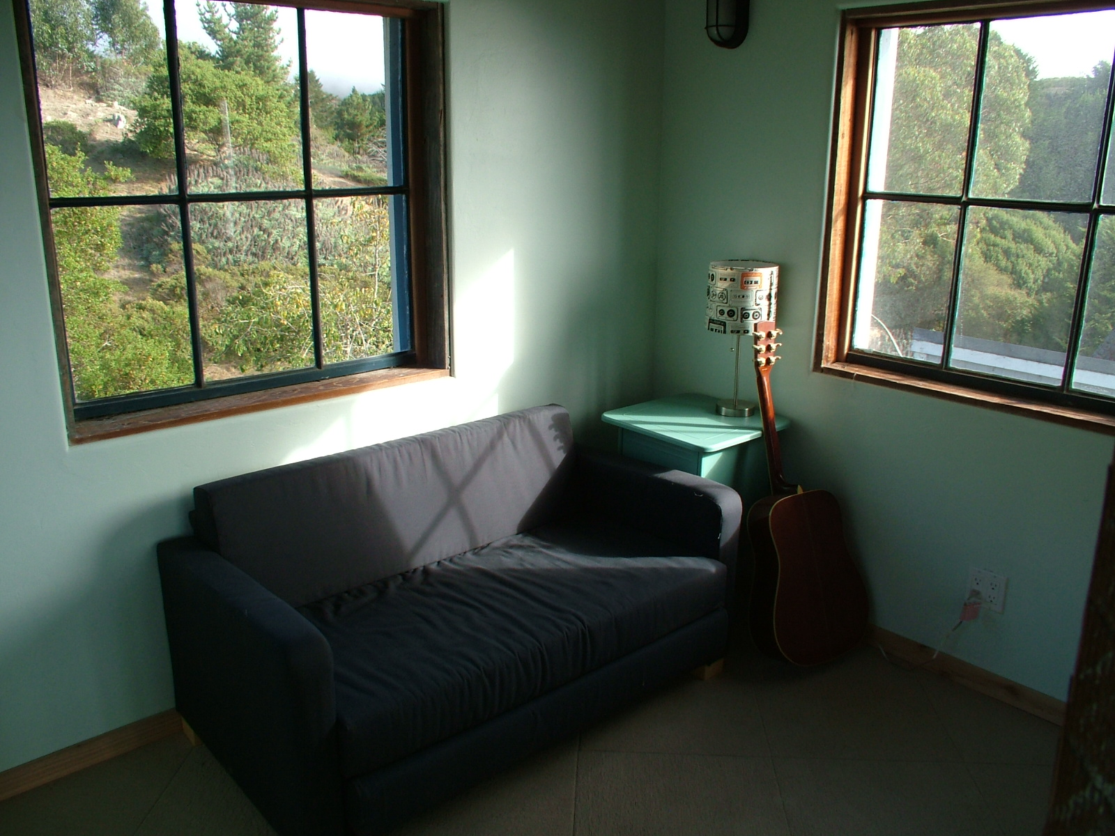 One of the many tucked away spaces to sit, relax and create or just read.