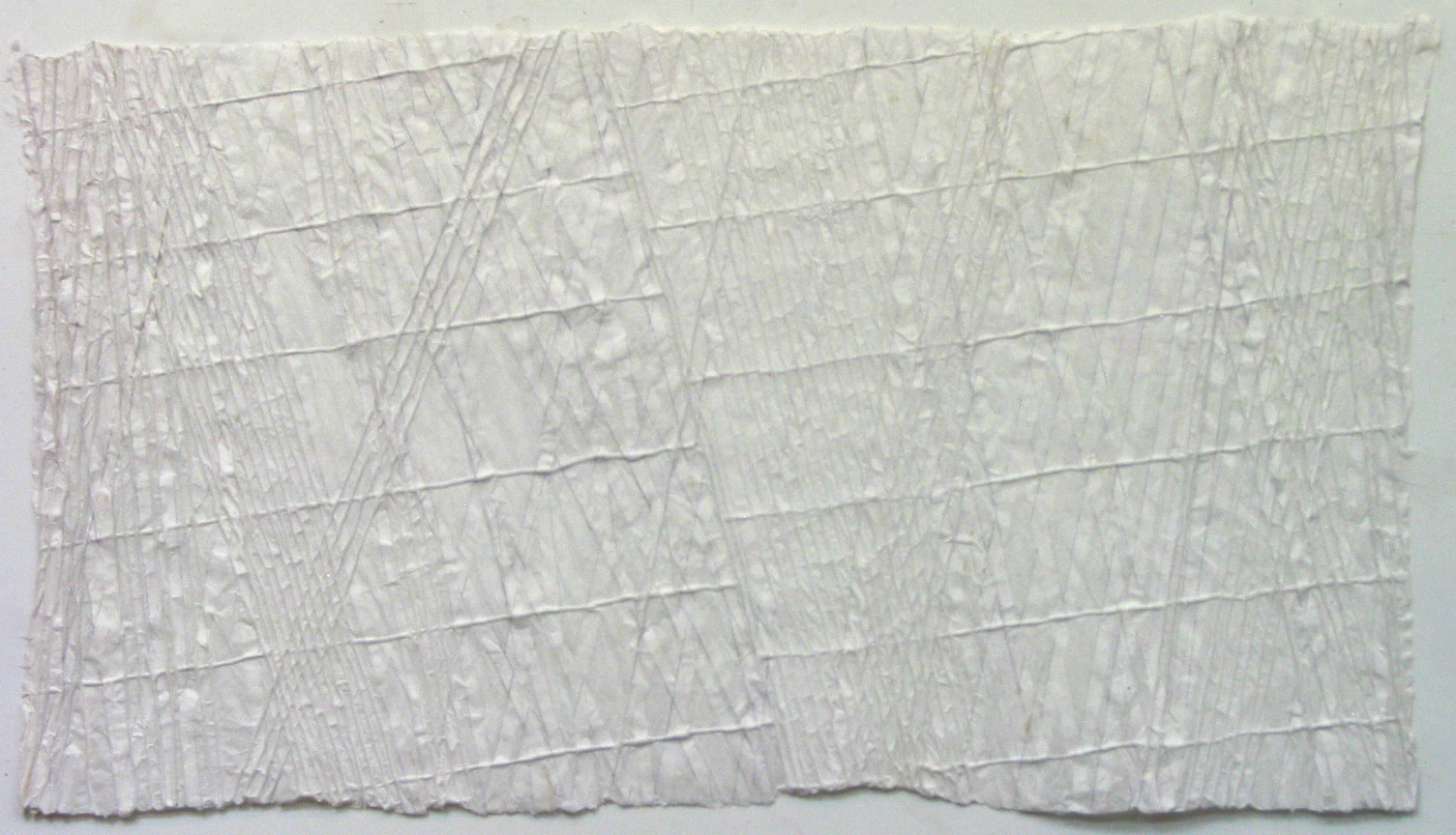 "Uncertainty 3, 24""x43"", paper"
