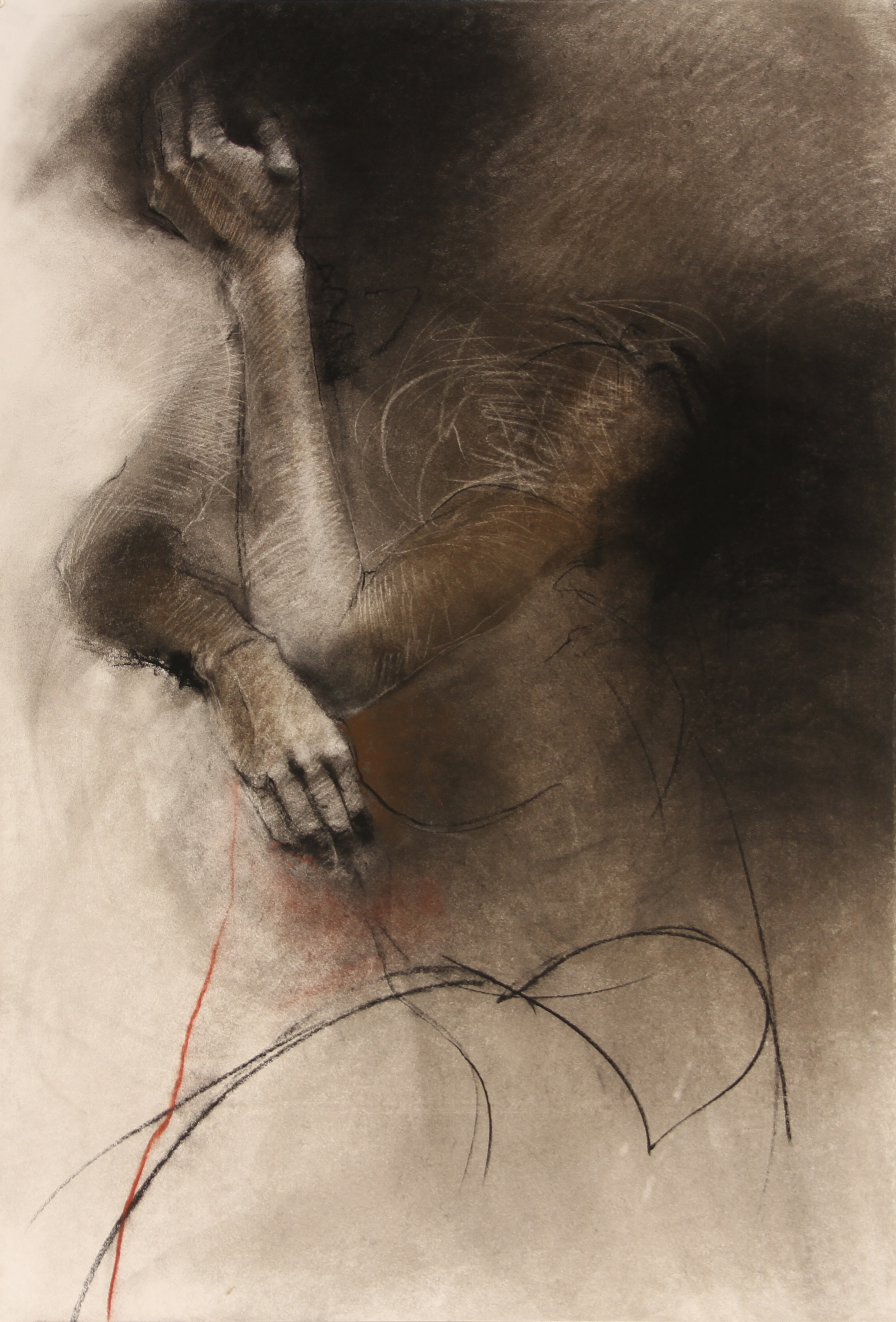 Brandon Smith, Pressure, painting on paper
