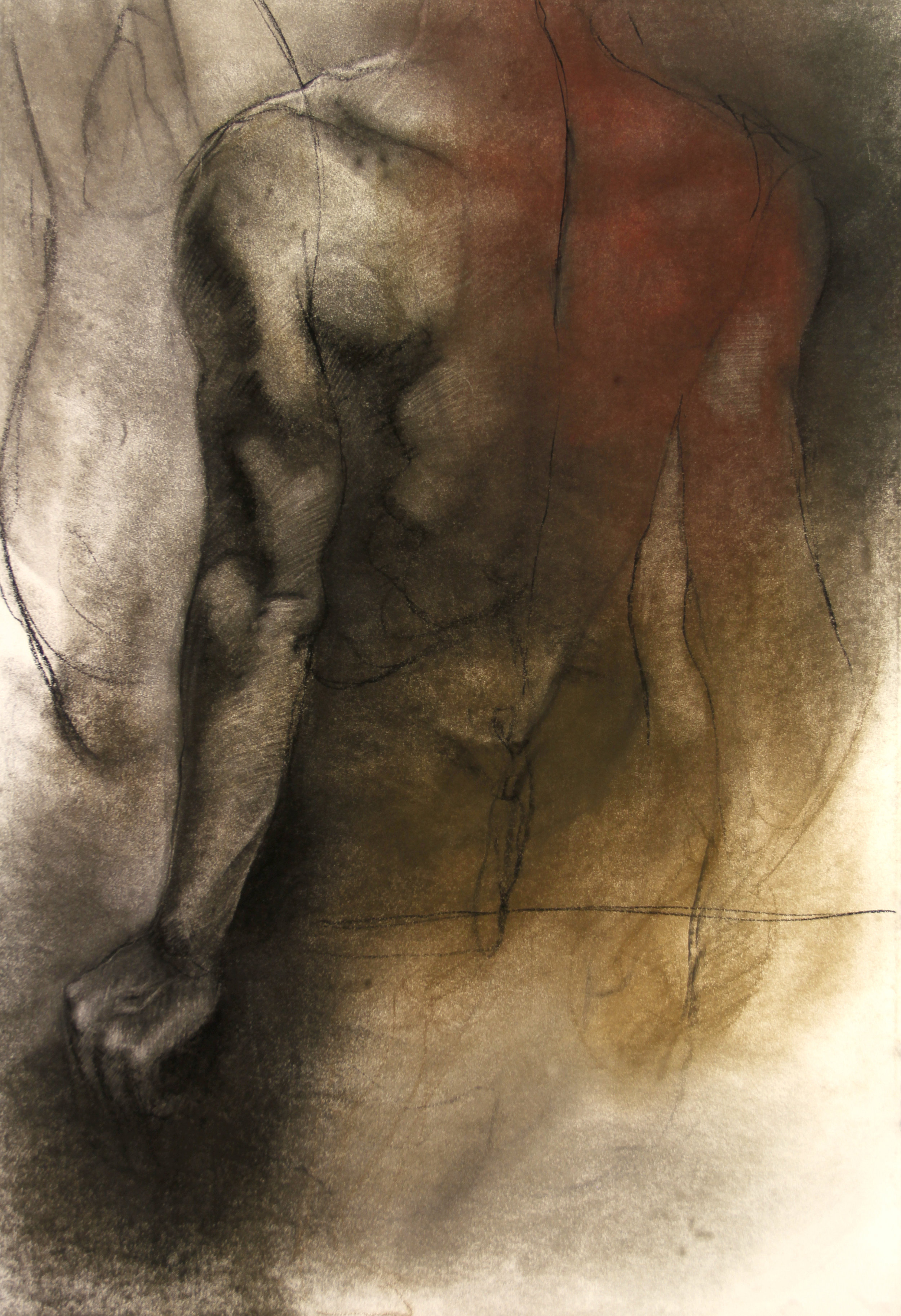 Strain, 30 x 44, Charcoal and pastel on Canson Editions.jpg