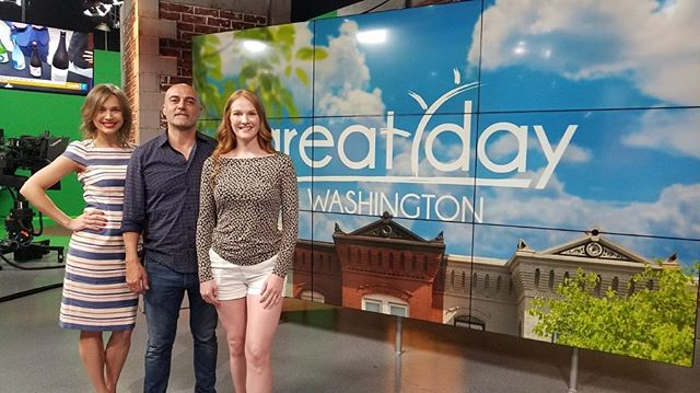 On set with WUSA9 for Great Day Washington!