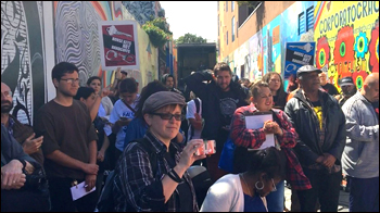 Coalition On Homelessness Press Conference ,  Clarion Alley Mural Project, San Francisco, CA, 2016