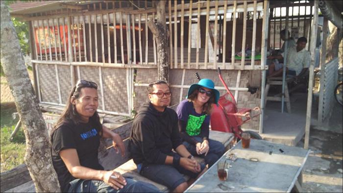 Farhansiki, Nano Warsono, Megan Wilson   ,    Geneng Street Art Project #3, Yogyakarta Indonesia, 2015