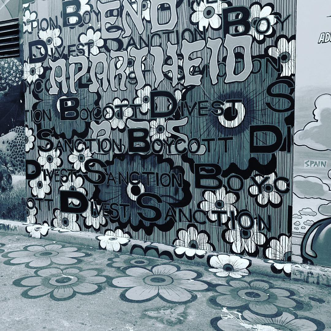 End Apartheid B.D.S.,  13. 5' x 13',   Clarion Alley Mural Project,  Bangkit/Arise , 2018