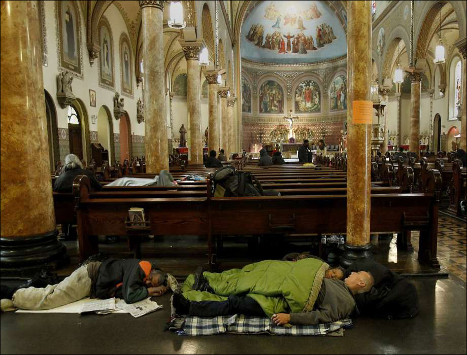 The Gubbio Project, St. Boniface Church, Tenderloin, San Francisco, CA 2014