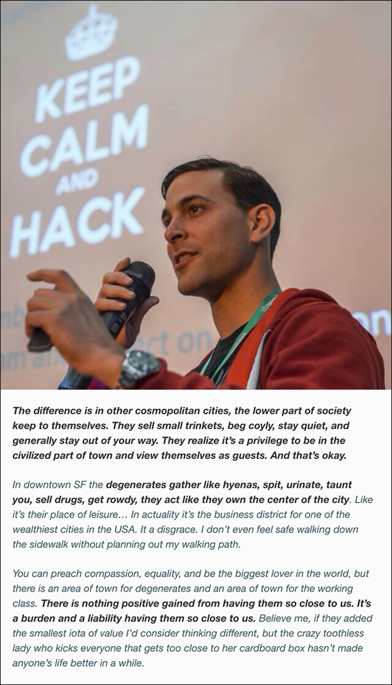 Angelhack founder and CEO Greg Gopman's comments from his Facebook post in December 2013.
