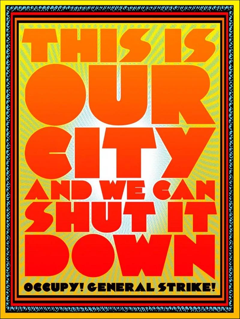 Poster for exhibition Occupy Bay Area, Yerba Buena Center for the Arts, San Francisco, CA, 2012