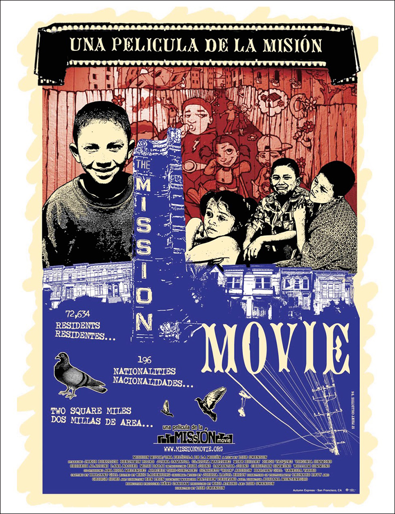 Poster for Lise Swenson's film  Mission Movie , 2004