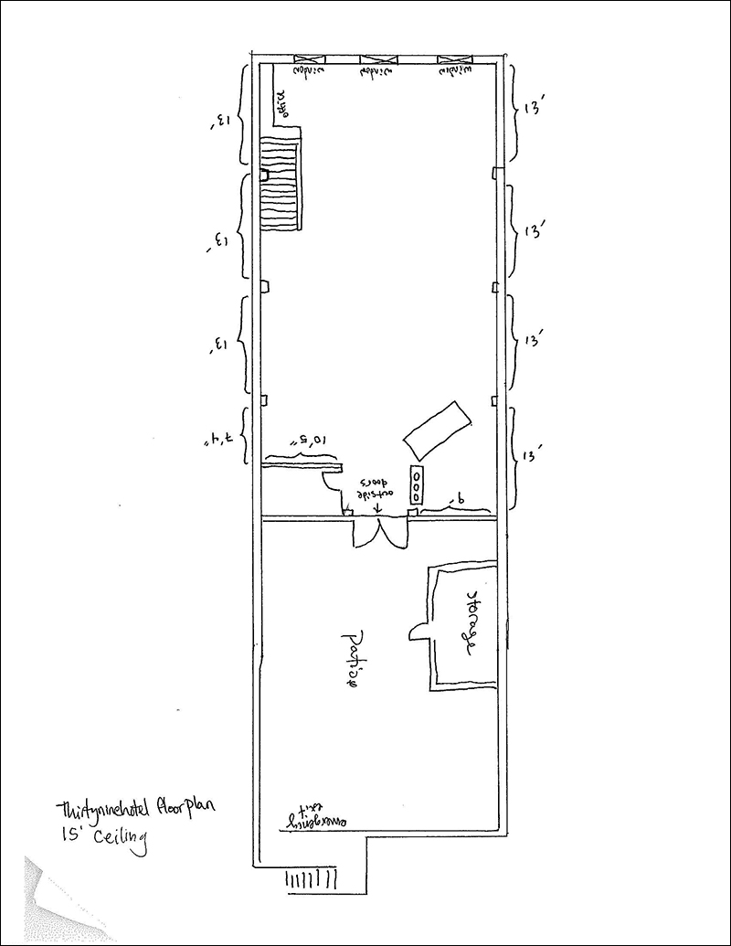 Site drawing of thirtyninehotel