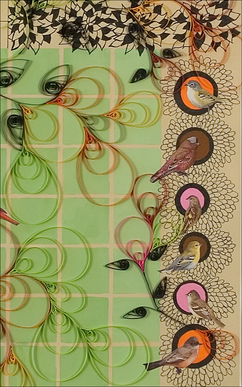 Patio #2, detail, (2007), paper, quilling, gouche, ink, collage