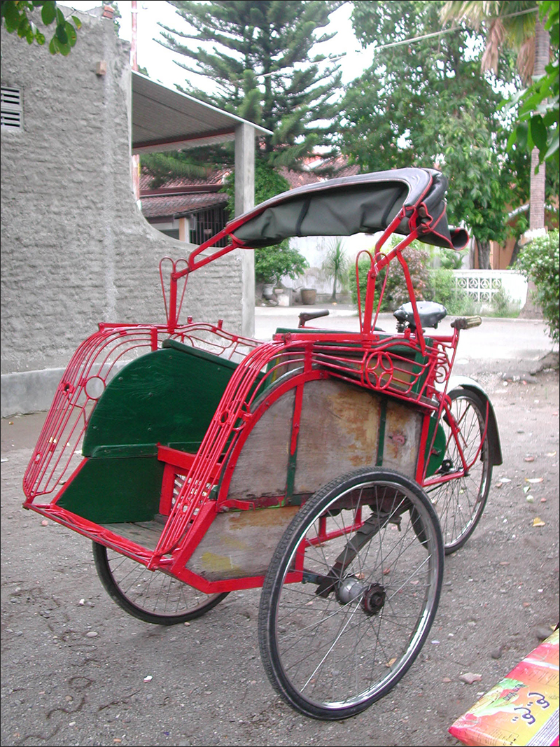 Becak before painting