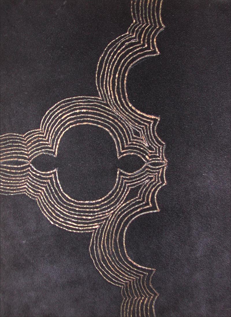 Branded drawing #1 , branded suede, detail 2004