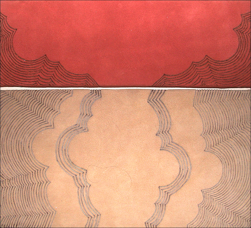 Branded drawing #4 , branded suede, 2004