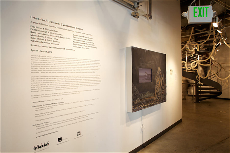 """""""Broadside Attractions   Vanquished Terrains"""", Intersection for the Arts, San Francisco, CA, 2012"""