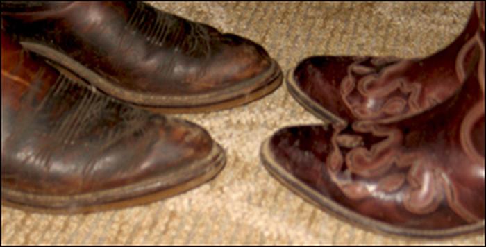 My Dad's cowboy boots
