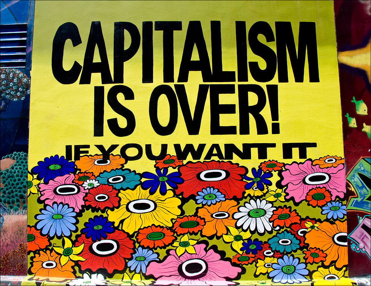 Capitalism Is Over! Mural