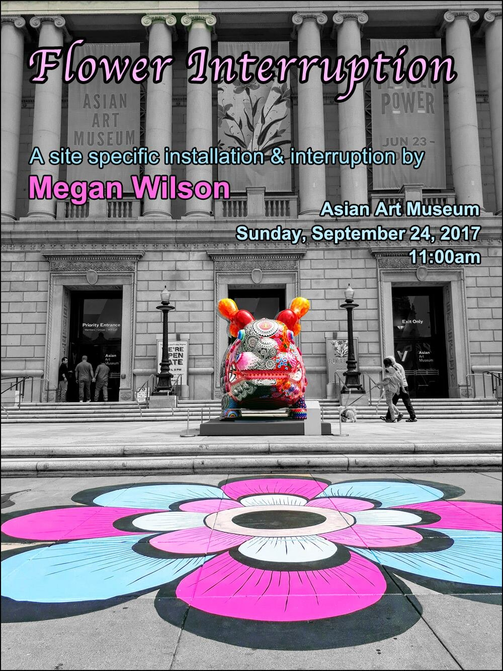Flower Interruption Performance - Asian Art Museum