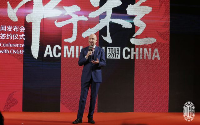 Marco Fassone toured China as part of AC Milan's push to expand revenues.